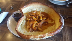 Elmer's German Pancake with Apple and Caramel topping