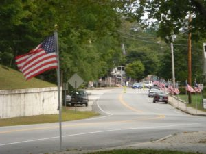 Main St flags