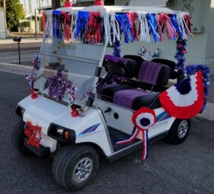 front view golf cart
