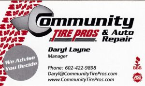 Community Tire Pros card