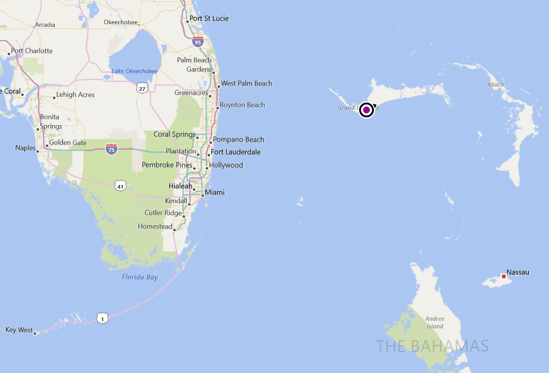 Map Of Florida To Bahamas A Grand Bahamian day.   Dave Violette Blog