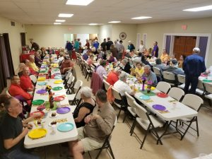 crowd at Taco Dinner