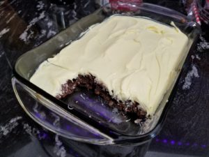lemon-frosted brownies